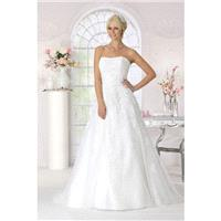 Style 9004 by Très Chic - Lace  Tulle Floor Strapless A-Line Wedding Dresses - Bridesmaid Dress Onli