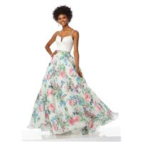 White Floral Sugarplum Morilee Prom 99005 Morilee Prom - Top Design Dress Online Shop