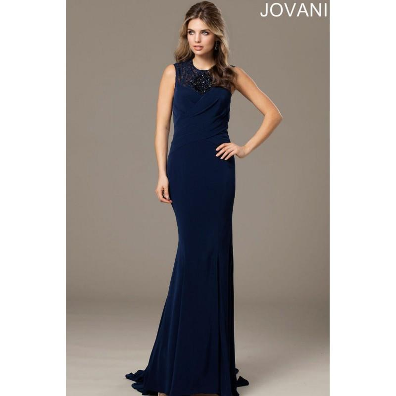 My Stuff, Navy Sugarplum Jovani Evenings 98793 Jovani Evening - Top Design Dress Online Shop