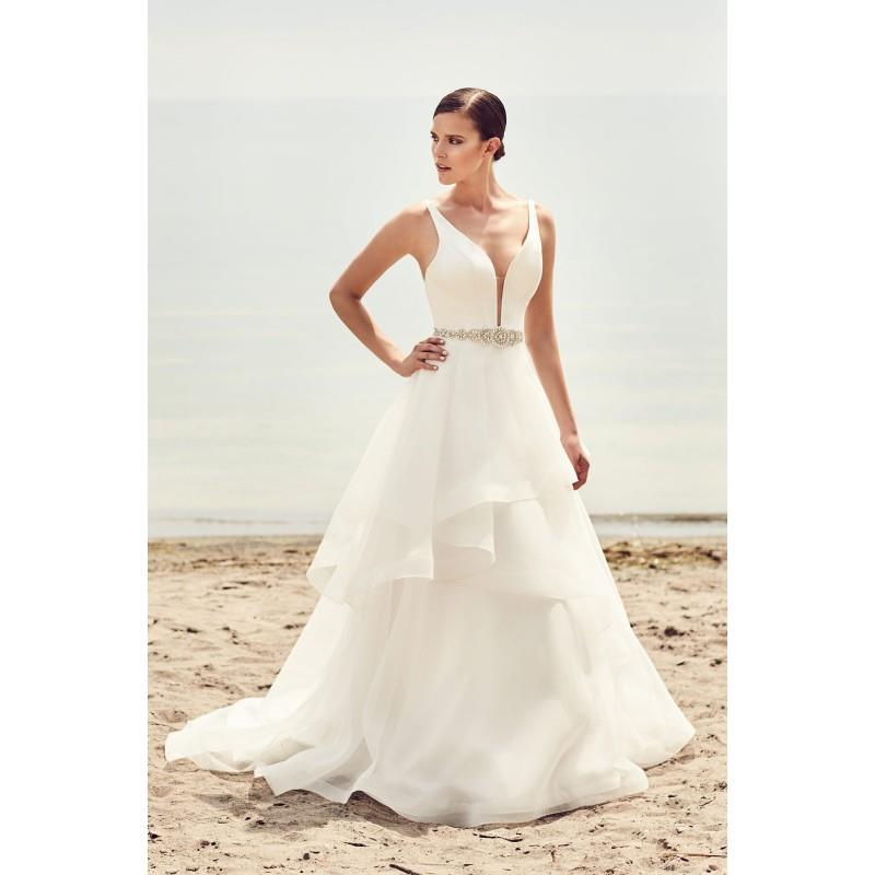 My Stuff, Mikaella Spring/Summer 2017 2112 V-Neck Organza Ball Gown Sleeveless with Sash Chapel Trai