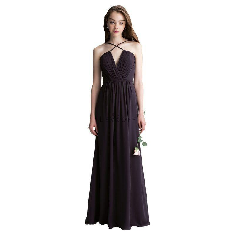 My Stuff, Bill Levkoff 1405 Spaghetti Strap Chiffon Floor Length Bridesmaid Dress - Crazy Sale Brida