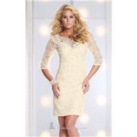 Beaded Lace Dress by Social Occasions by Mon Cheri 113856 - Bonny Evening Dresses Online