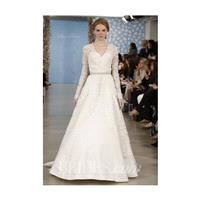 Oscar de la Renta - Spring 2014 - Alicia Sweetheart A-Line Gown with Lace Sleeve Overlay - Stunning