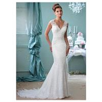 Fabulous Lace & Tulle V-neck Neckline Mermaid Wedding Dresses with Lace Appliques - overpinks.com