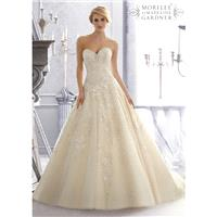 Mori Lee 2671 A-Line Sweetheart Neckline Beaded Bodice Lenice Lace - Strapless, Sweetheart Mori Lee