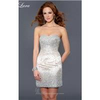 Nude Beaded Fitted Dress by Lara Designs - Color Your Classy Wardrobe