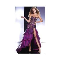 Panoply Purple Multi Peacock High Low Prom Dress 14431 - Brand Prom Dresses|Beaded Evening Dresses|C