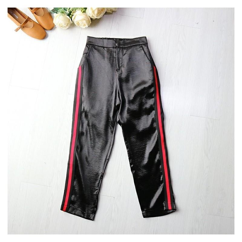 My Stuff, Must-have Banded Waist Zipper Up Edgy Casual Trouser - beenono.com