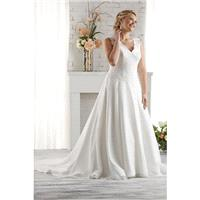 Style 1515 by Bonny - Unforgettable Collection - V-neck Floor length A-line Chiffon Cathedral Dress