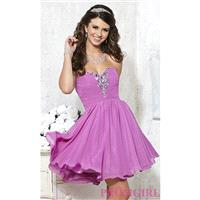 Short Strapless Lace Up Chiffon Dress by Damas - Brand Prom Dresses|Beaded Evening Dresses|Unique Dr