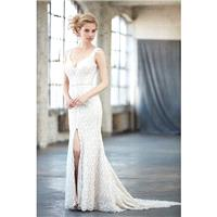 Madison James Style MJ303 by Madison James - Taupe  Ivory  White  Champagne Lace Illusion back Floor