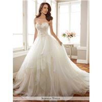 Sophia Tolli Y11716 Tropez Wedding Dress - A Line, Drop Waist Sophia Tolli Wedding Strapless, Sweeth
