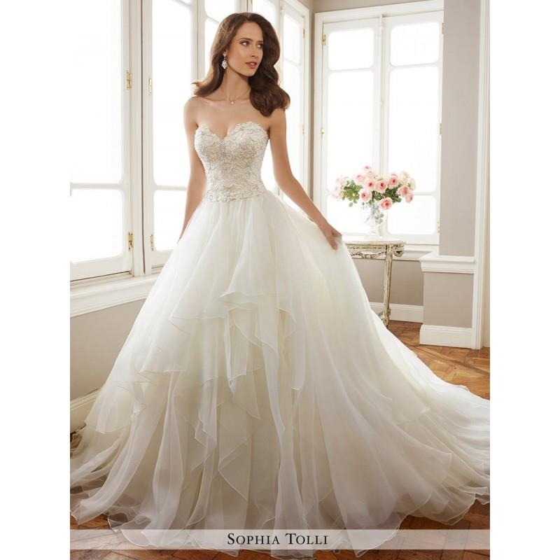 My Stuff, Sophia Tolli Y11716 Tropez Wedding Dress - A Line, Drop Waist Sophia Tolli Wedding Straple