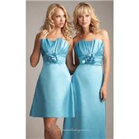Strapless Satin Dress by Allure Bridesmaids 1227 - Bonny Evening Dresses Online