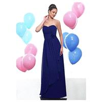 Elegant Chiffon Sweetheart A-line Long Bridesmaid Dress - overpinks.com