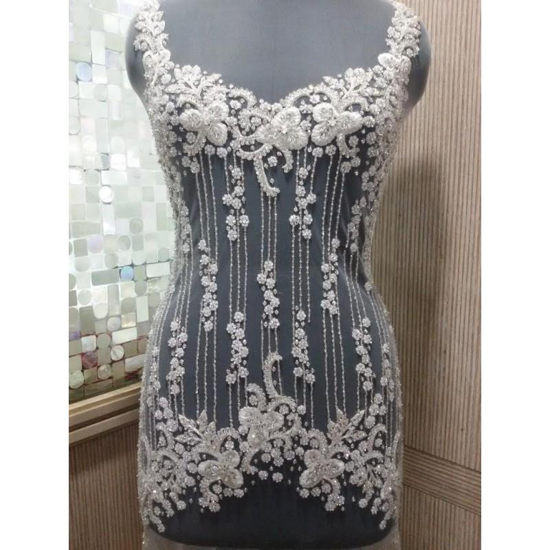 My Stuff, Hand Beaded and Embroidered WEDDING DRESS Bodice, Top or Corset In Over 50 Styles and Colo