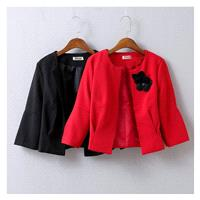 Slimming One Color Fine Lady Fall Coat - beenono.com