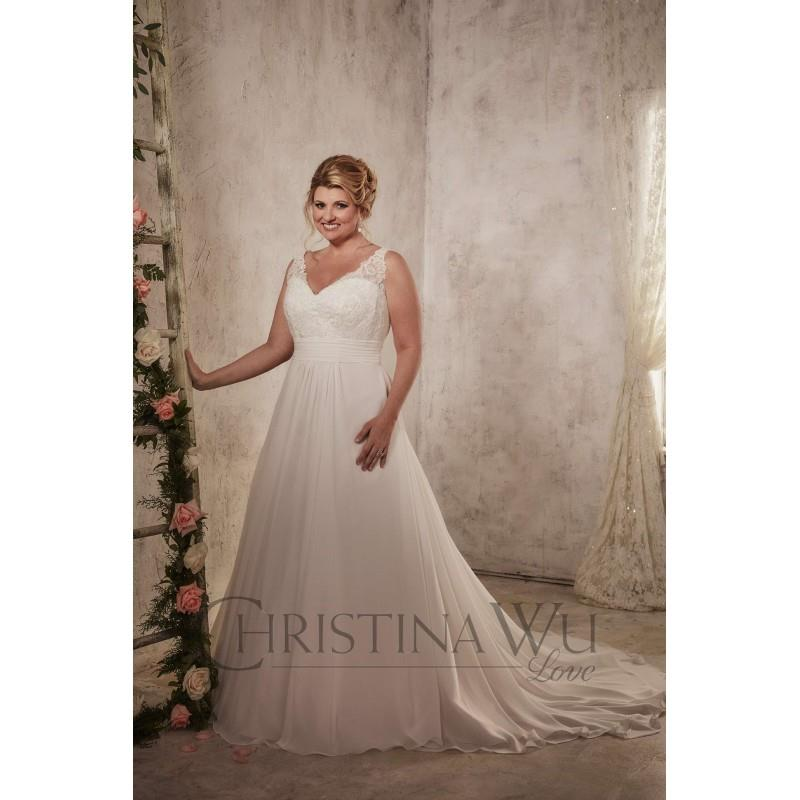 wedding, Eternity Bride Plus-Size Dresses Style 29271 by Love by Christina Wu - Ivory  White Chiffon
