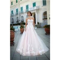 Victoria Soprano 2017 Federica 1068 Appliques Sweetheart Tulle Chapel Train Sweet Ball Gown Sleevele