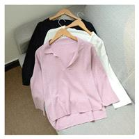 Must-have Casual Asymmetrical Polo Collar Long Sleeves Summer - Discount Fashion in beenono