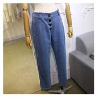 Casual Banded Waist Long Trouser Jeans - Lafannie Fashion Shop