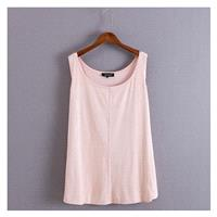 Must-have Oversized Simple Seude One Color Summer Flexible Sleeveless Top Basics - Discount Fashion