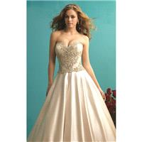 Beaded Satin Ballgown by Allure Bridals - Color Your Classy Wardrobe