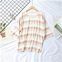Oversized Fresh Cotton Stripped T-shirt - Discount Fashion in beenono