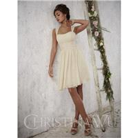 Christina Wu 22697 Tank Chiffon Knee Length Bridesmaid Dress - Crazy Sale Bridal Dresses|Special Wed