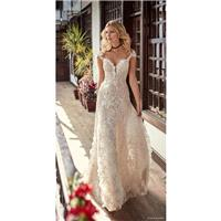Galia Lahav Fall/Winter 2018 Aline Off-the-shoulder Sweep Train Sweet Nude Cap Sleeves Lace Hand-mad