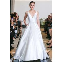 Sleeveless Chapel Train Satin Spring Simple Dress For BrideWedding Dress - Elegant Wedding Dresses|C