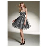Amazing Lace & Tulle & Satin A-line Sweetheart Neck Raised Waist Homecoming Dress - overpinks.com