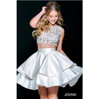 Jovani 39519 Short Dress - Short and Cocktail Jewel, Sleeveless Short A Line, Crop Top Jovani Dress