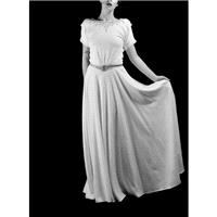 1940 - Beaded Crepe Ivory Wedding Dress  - Made to Order - FREE SHIPPING WORLDWIDE - Hand-made Beaut