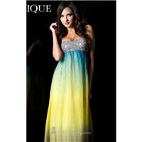 Multi Strapless Empire Gown by Janique - Color Your Classy Wardrobe