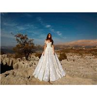 Tony Ward Fall/Winter 2018 Nightgift Sweet Chapel Train Champagne Off-the-shoulder Ball Gown Lace Ha