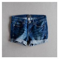 Old School Vogue Frilled Slimming Cowboy Summer Jeans Short - Discount Fashion in beenono