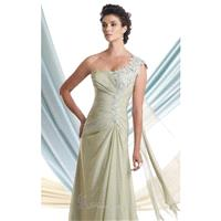 Pleated Bodice Chiffon Gown by Mon Cheri Montage 113910 - Bonny Evening Dresses Online