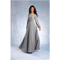 Alfred Angelo 7327L Long Sleeve Chiffon Bridesmaid Dress - Crazy Sale Bridal Dresses|Special Wedding