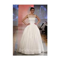 The Steven Birnbaum Collection - Spring 2013 - Priscilla Lace and Silk Satin A-Line Wedding Dress wi