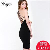 Autumn new slim night club sexy shoulder dress exposed backpack hip bandaged dress woman - Bonny YZO