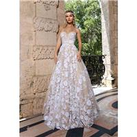 Ashley & Justin Spring/Summer 2018 10548 Nude Sequins Tulle Sweet Chapel Train Sweetheart Aline Slee