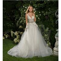 Eve of Milady Fall/Winter 2016 Style 1561 Chapel Train Ivory Sweet Tulle V-Neck Sleeveless with Sash