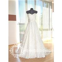 Wedding Dress/Lace Sweetheart Neckline Strapless A-Line Bridal Dress - Hand-made Beautiful Dresses|U