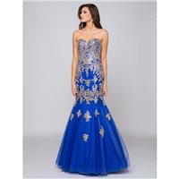 Glow by Colors - G708 Gilt Embroidered Trumpet Gown - Designer Party Dress & Formal Gown