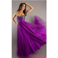 Full Length Strapless Formal Gown - Brand Prom Dresses|Beaded Evening Dresses|Unique Dresses For You