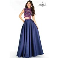Blue Alyce Prom 6780-17 Alyce Paris Prom - Rich Your Wedding Day