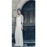 Laure de Sagazan 2017 Drieu Cleves Lace Vintage Spring Column Scoop Neck Floor-Length Ivory Garden 1