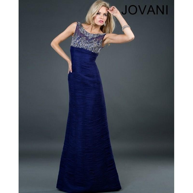 My Stuff, Jovani 72666 Illusion Scoop Neck Ruched Chiffon Trumpet Silhouette - 2018 New Wedding Dres