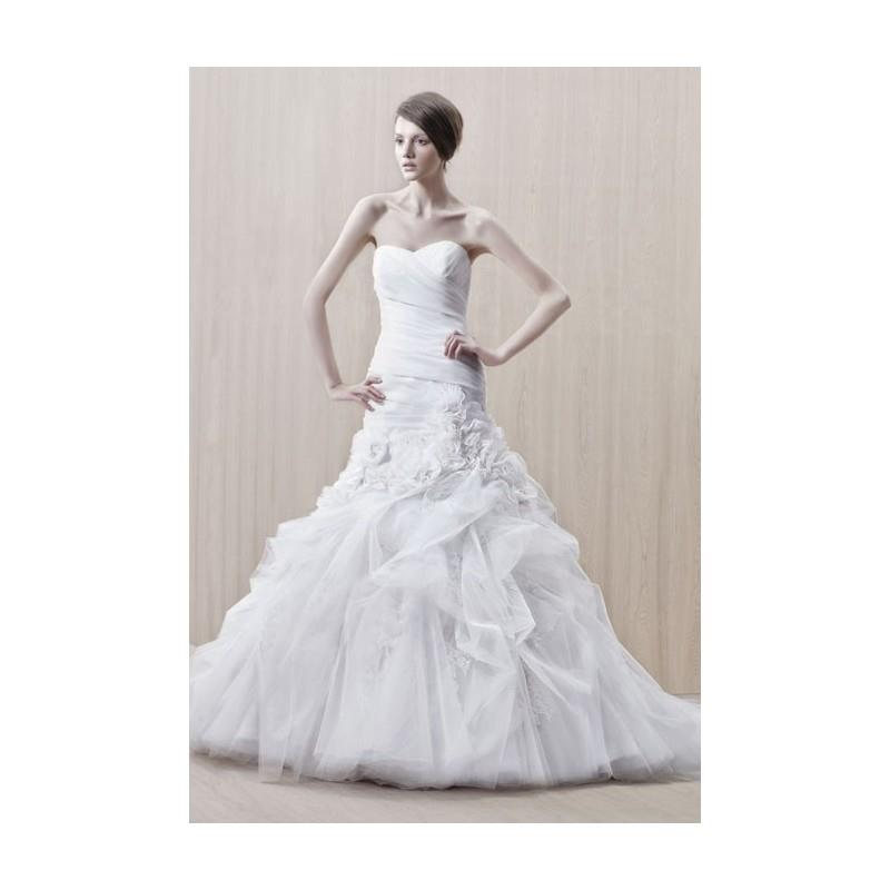 My Stuff, Enzoani Collection - Fall 2012 - Gilda Strapless Silk Organza and Tulle Trumpet Wedding Dr